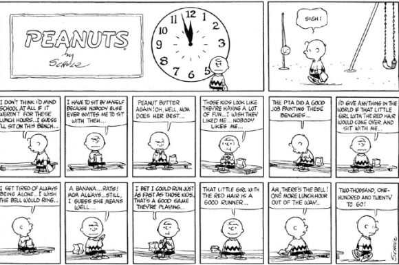 Peanuts newspaper comic strip
