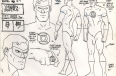"Model sheet for Green Lantern from the ""Super Friends"" television cartoon"