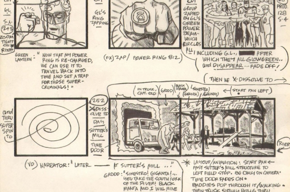 "Storyboard for the ""Challenge of the Super Friends"" television cartoon"