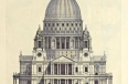 Drawing of the West Elevation of St. Paul's Cathedral, London
