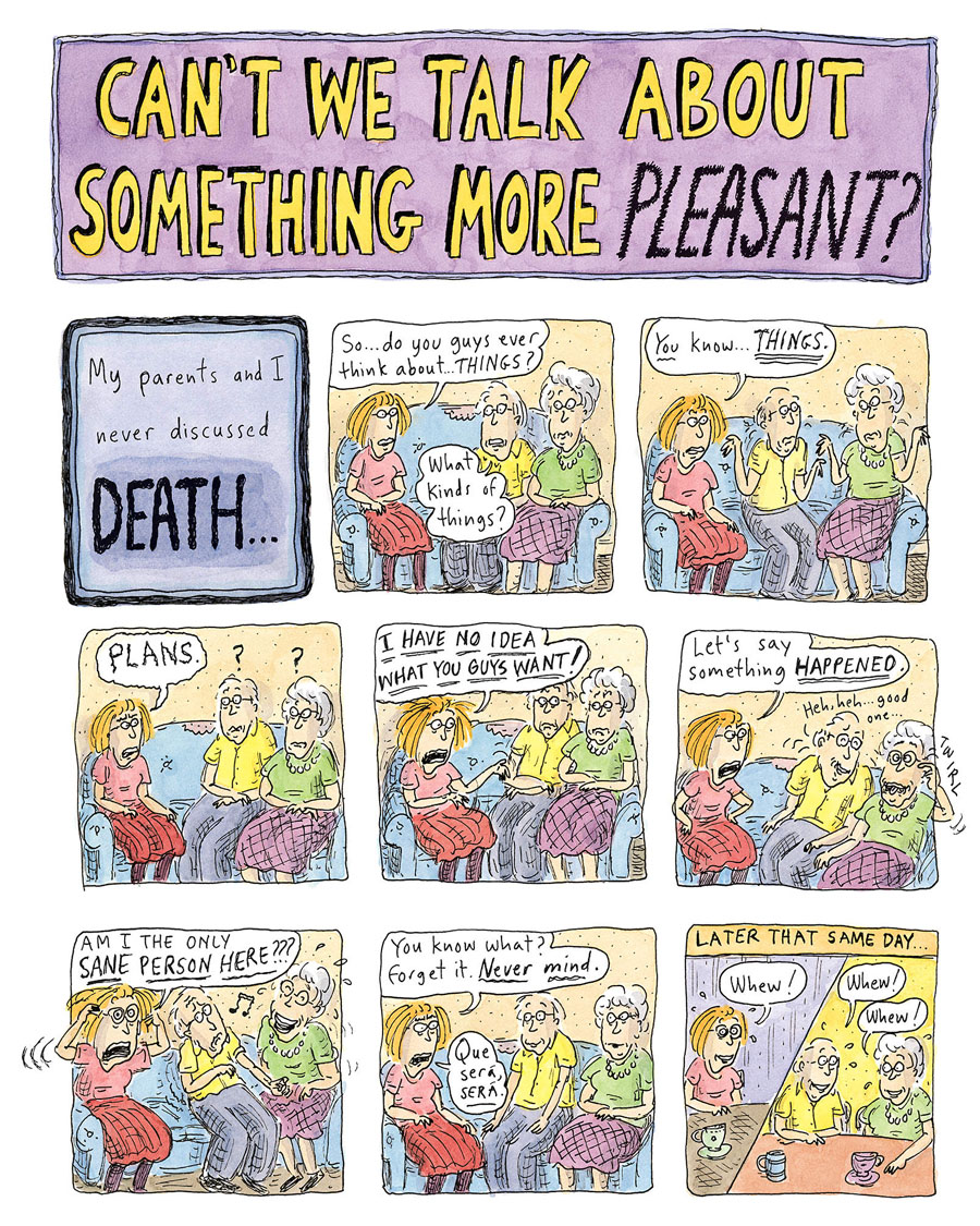 "The ""Roz Chast: Cartoon Memoirs"" exhibition debuts at Norman Rockwell Museum."