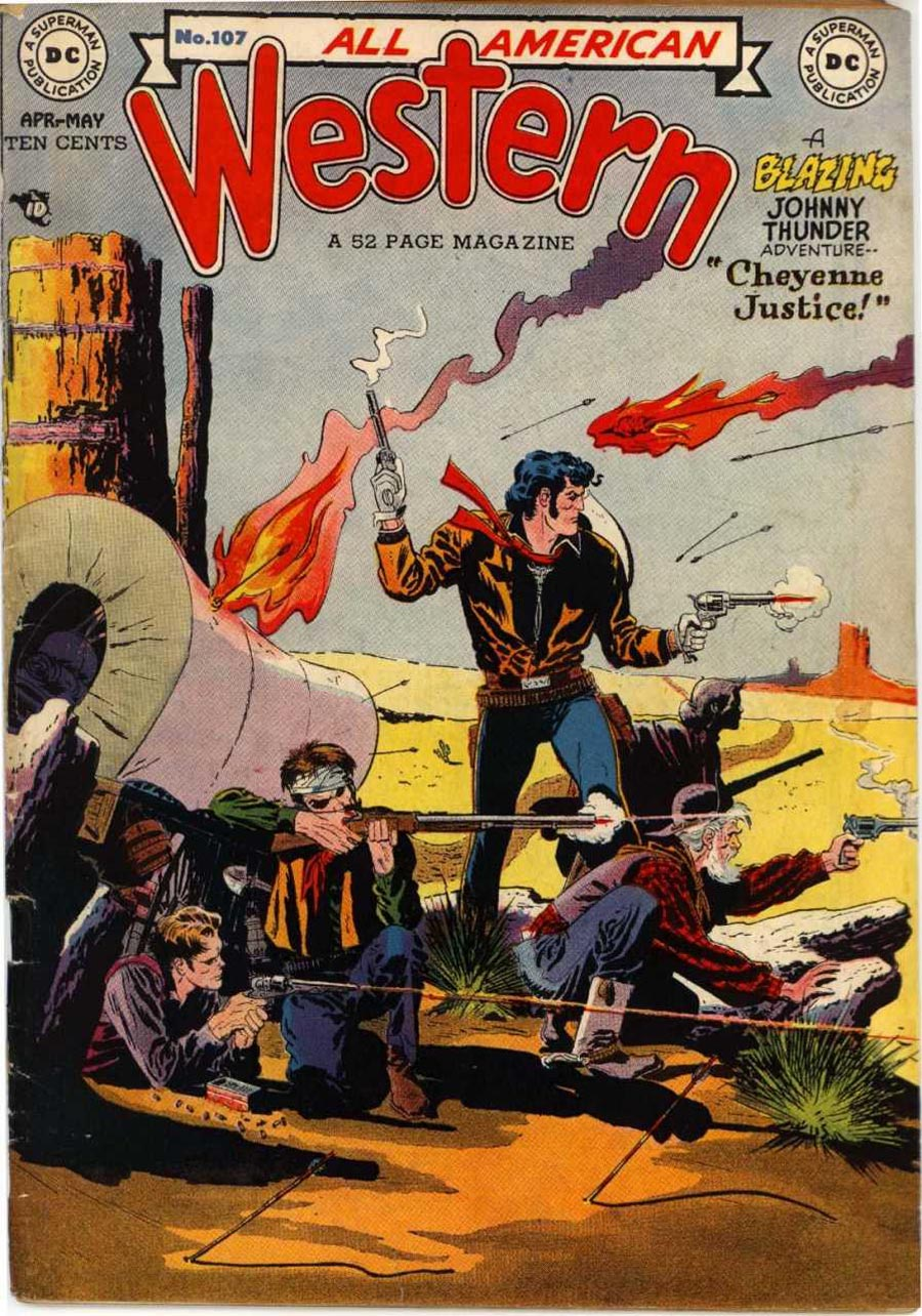 """Cover of """"All-American Western"""" #107, April-May, 1949"""