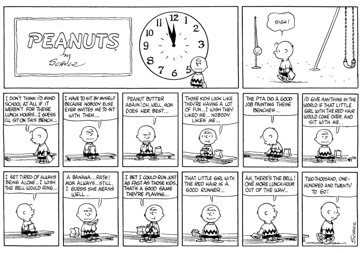 """Peanuts"" strip from November 19, 1961"