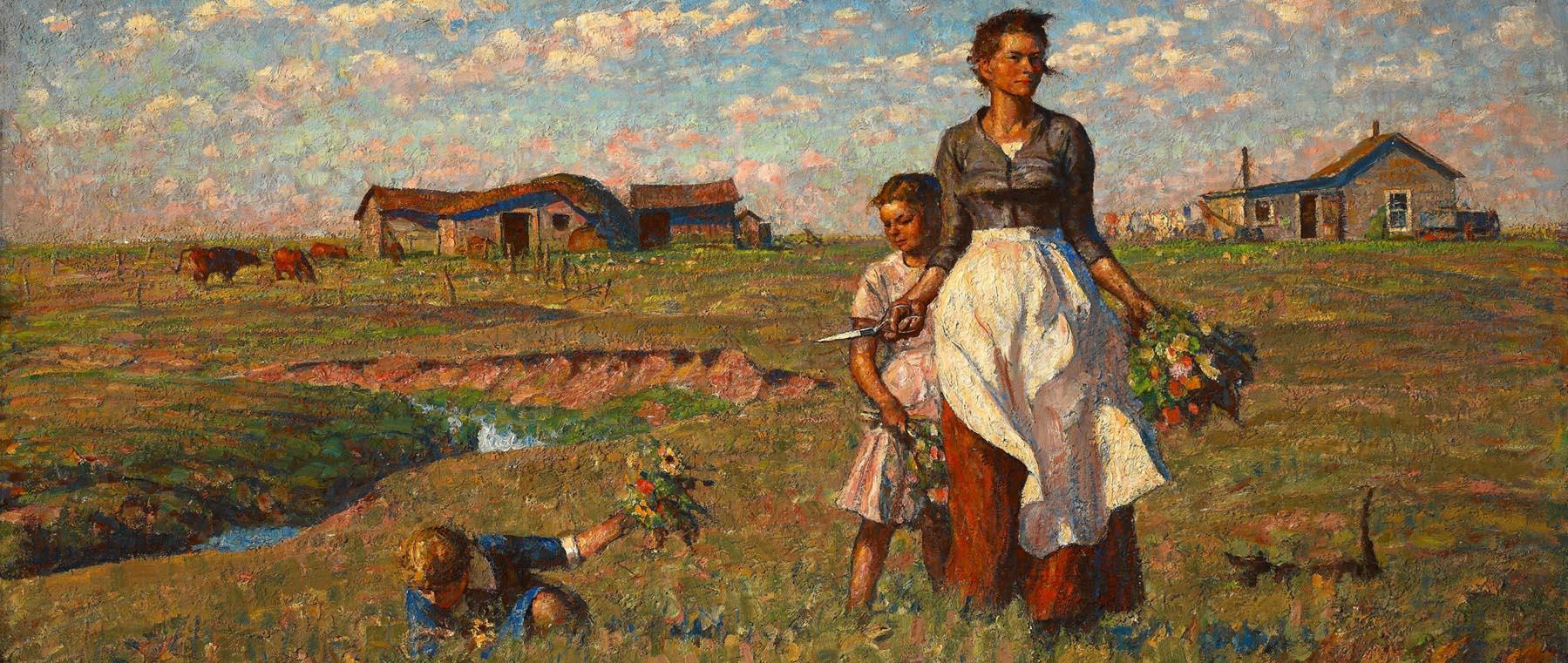 Harvey Dunn The Prairie is My Garden