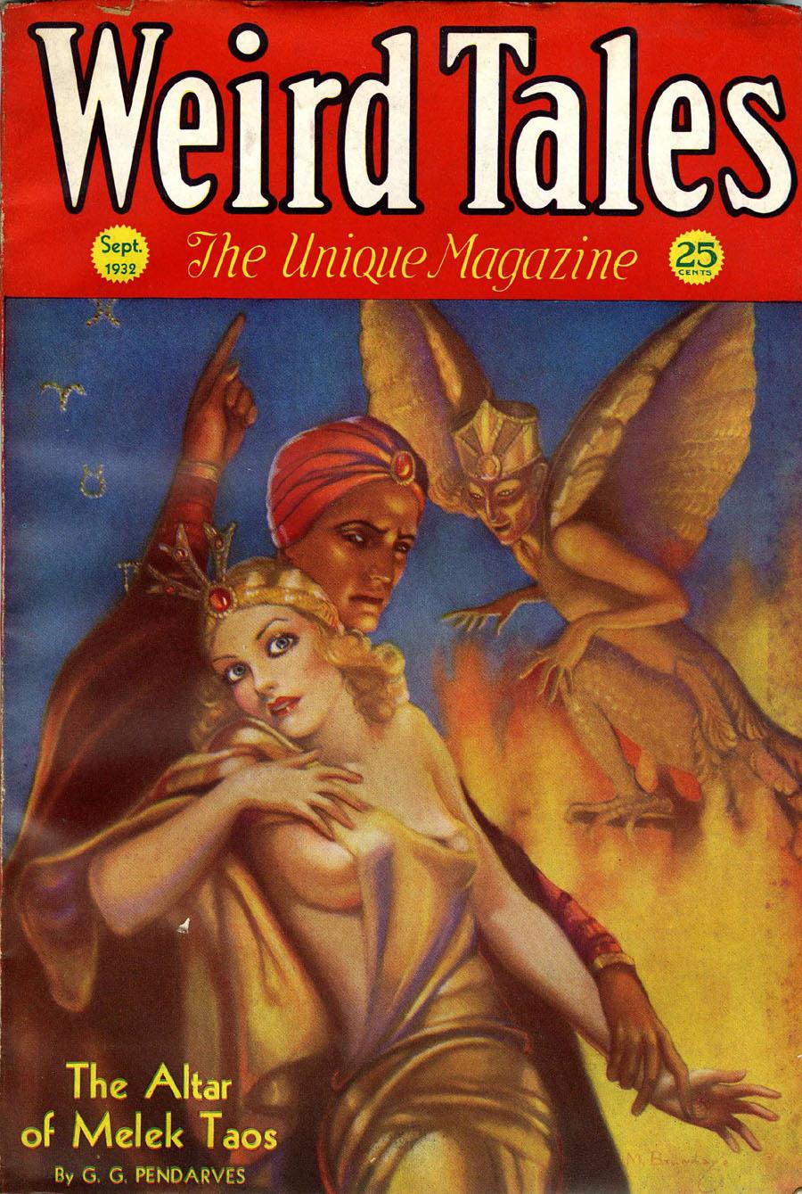"Cover of ""Weird Tales,"" September 1932"