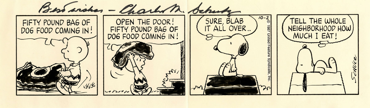 """Peanuts"" strip from October 2, 1987"