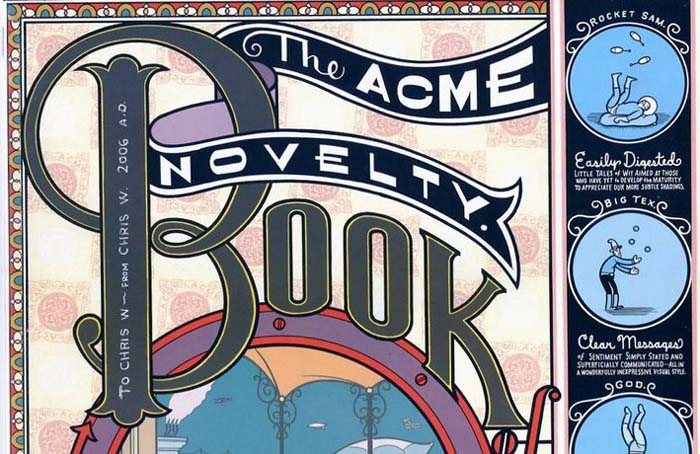 """Cover of """"Acme Novelty Library #7 (Book of Jokes)"""" [detail]"""