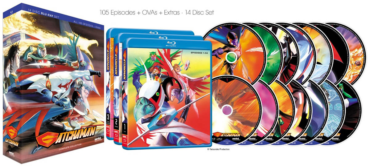 """Gatchaman"" DVD covers"