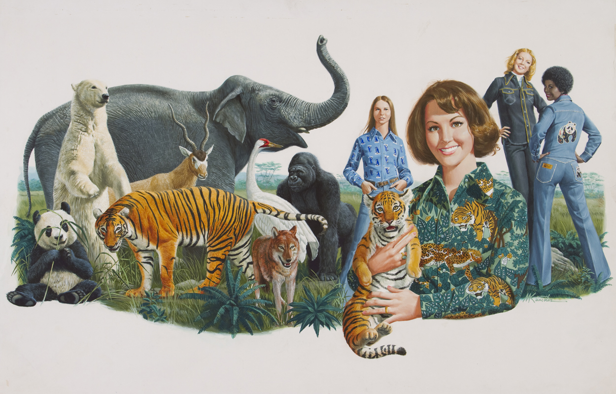 Russ Togs Clothing/ World Wildlife Fund, ©Mort Künstler Inc. All rights reserved