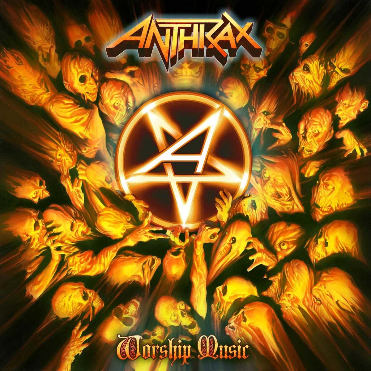 """Cover of the Anthrax LP """"Worship Music,"""" 2011"""