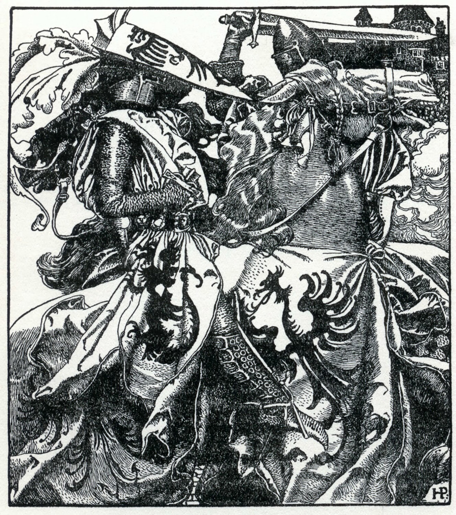 """Page from """"The Merry Adventures of Robin Hood"""""""