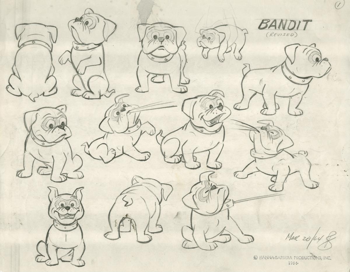 Model sheet of Jonny Quest's dog, Bandit