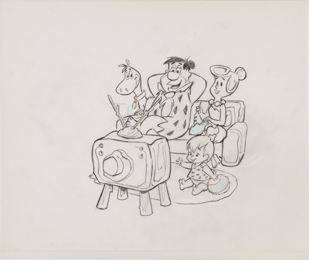 """The Flintstones"" publicity drawing"
