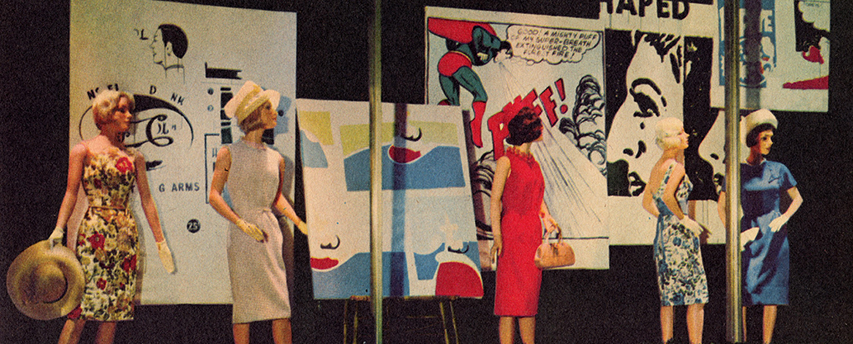 Bonwit Teller window display featuring artwork by Andy Warhol