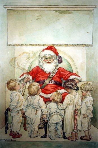 Children Visiting Santa