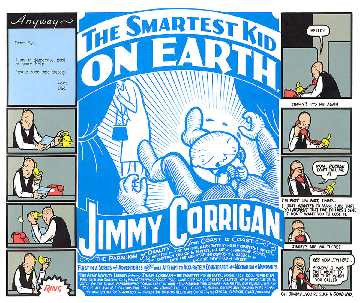 book analysis of jimmy corrigan the A character analysis of jimmy corrigan in the smartest kid on earth by chris ware.
