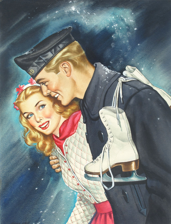 """Cover art for """"All-Story Love,"""" December 1945"""