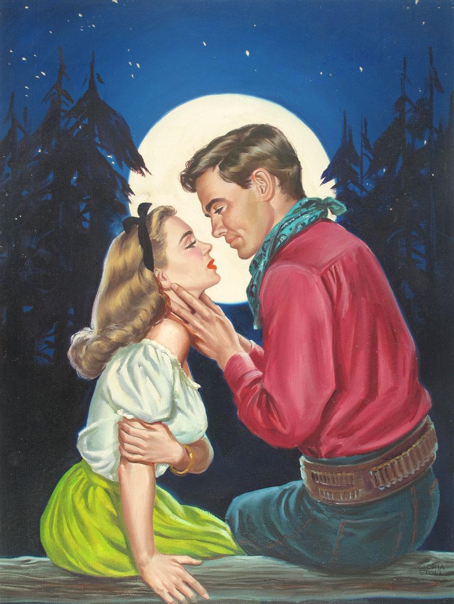 """Cover art for """"Rangeland Romances,"""" April 1948"""