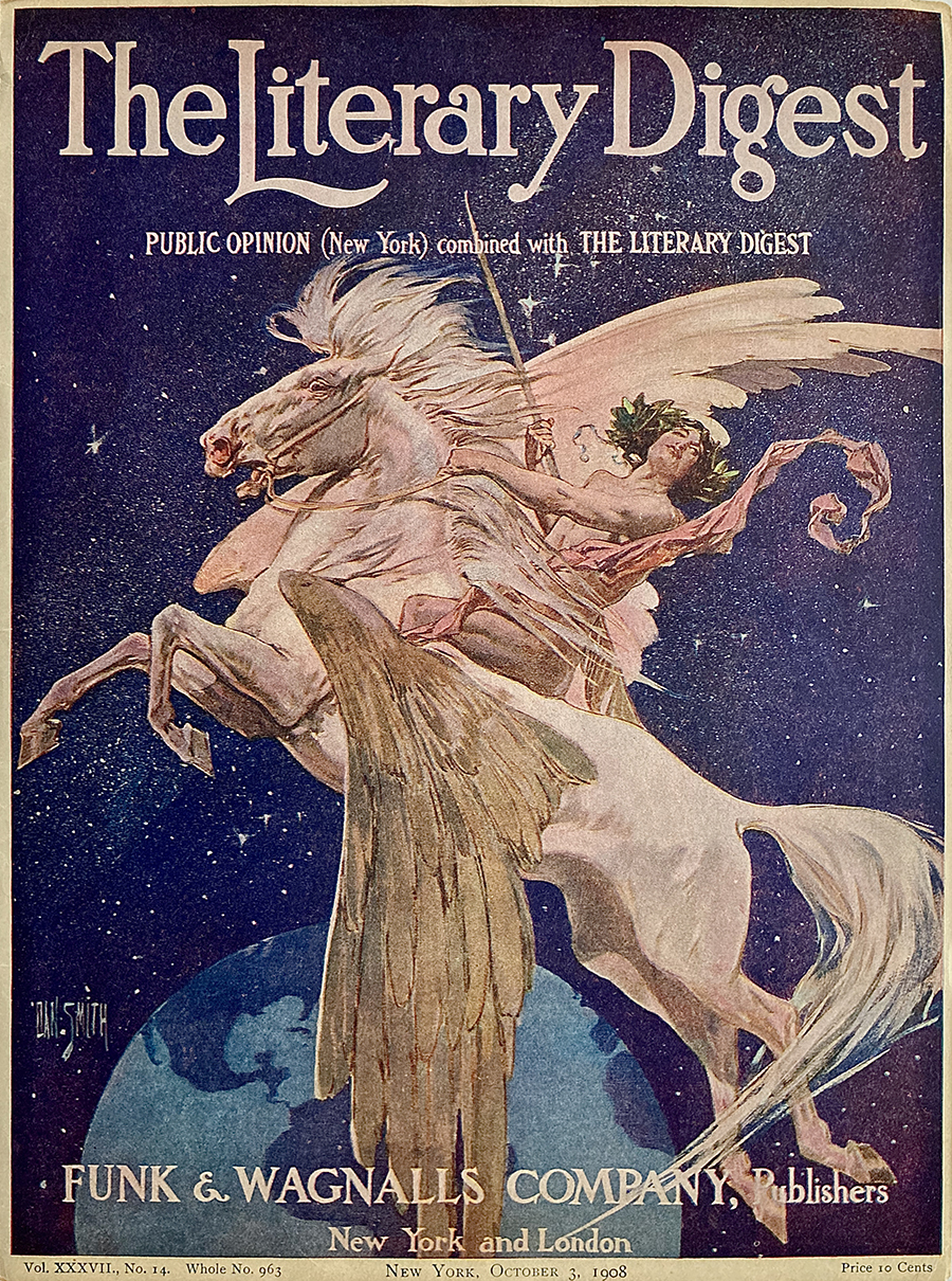 "Cover of ""The Literary Digest,"" October 3, 1908"