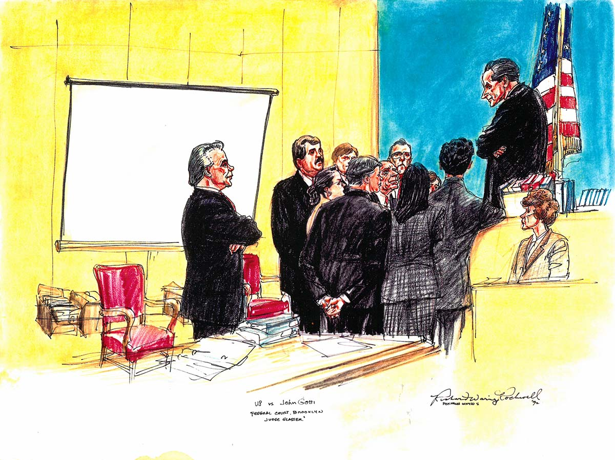 John Gotti courtroom drawing