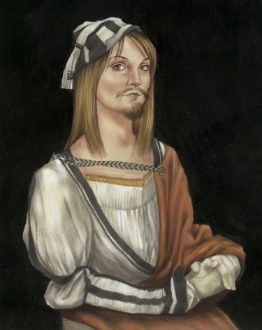 Self Portrait with Facial Hair: Durer