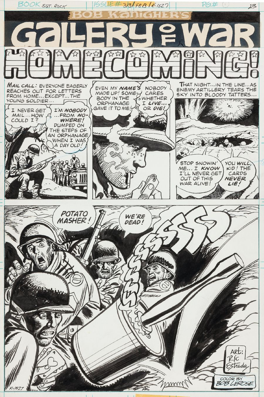 """Page from """"Sgt. Rock,"""" #313, February 1978"""
