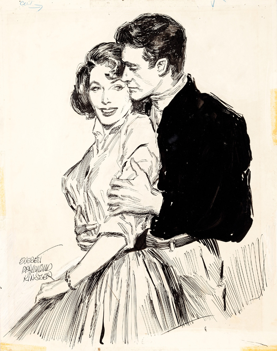 "Cover art for ""Exciting Love,"" 1958"