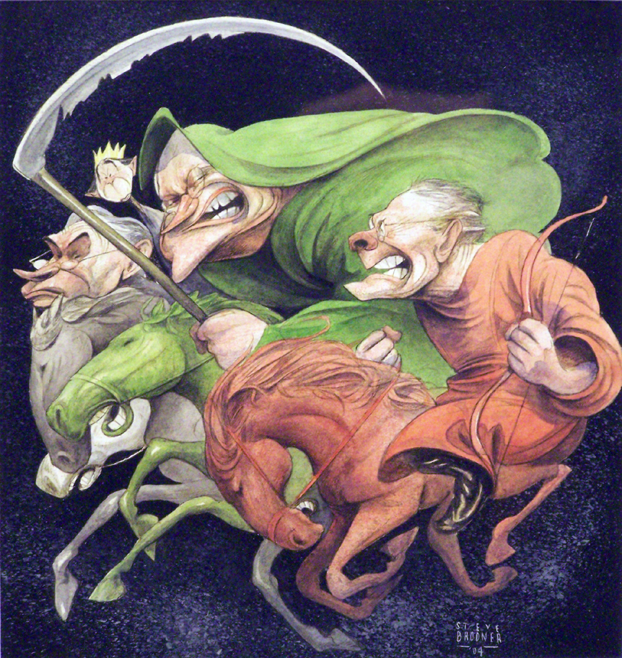 Four Horsemen of the Apocalypse - Illustration History