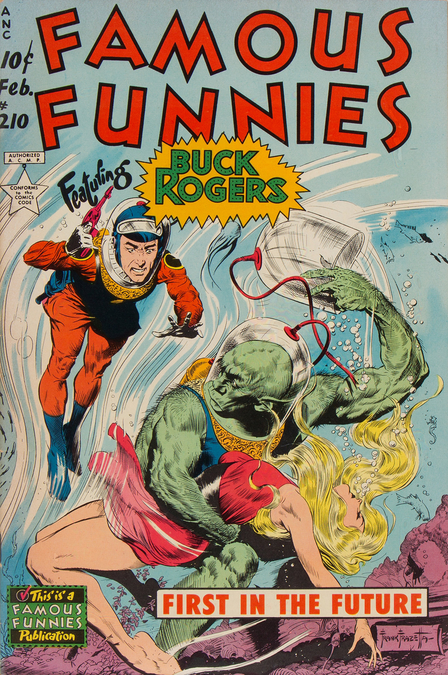"Cover of ""Famous Funnies"" #210, February 1954"