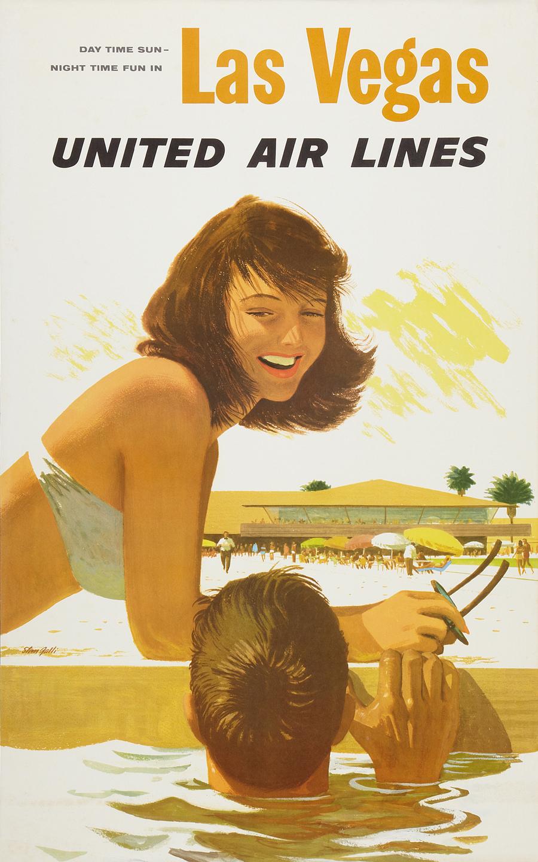 United Airlines Las Vegas advertising poster