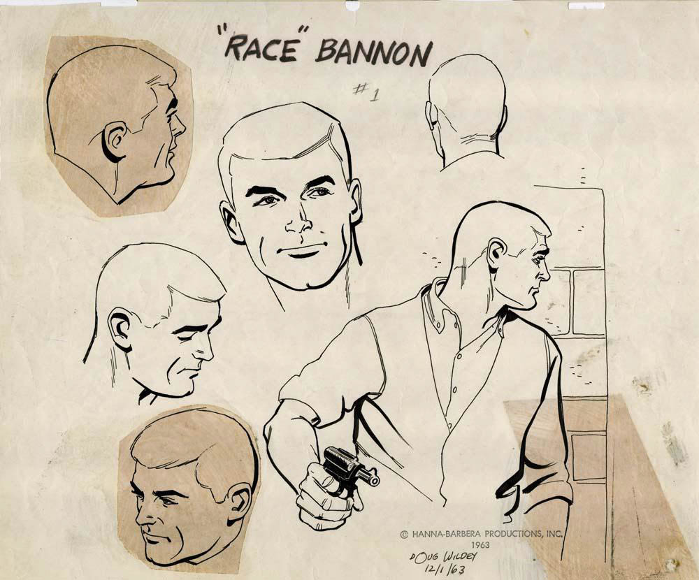 "Model sheet of Race Bannon for the ""Jonny Quest"" television cartoon"