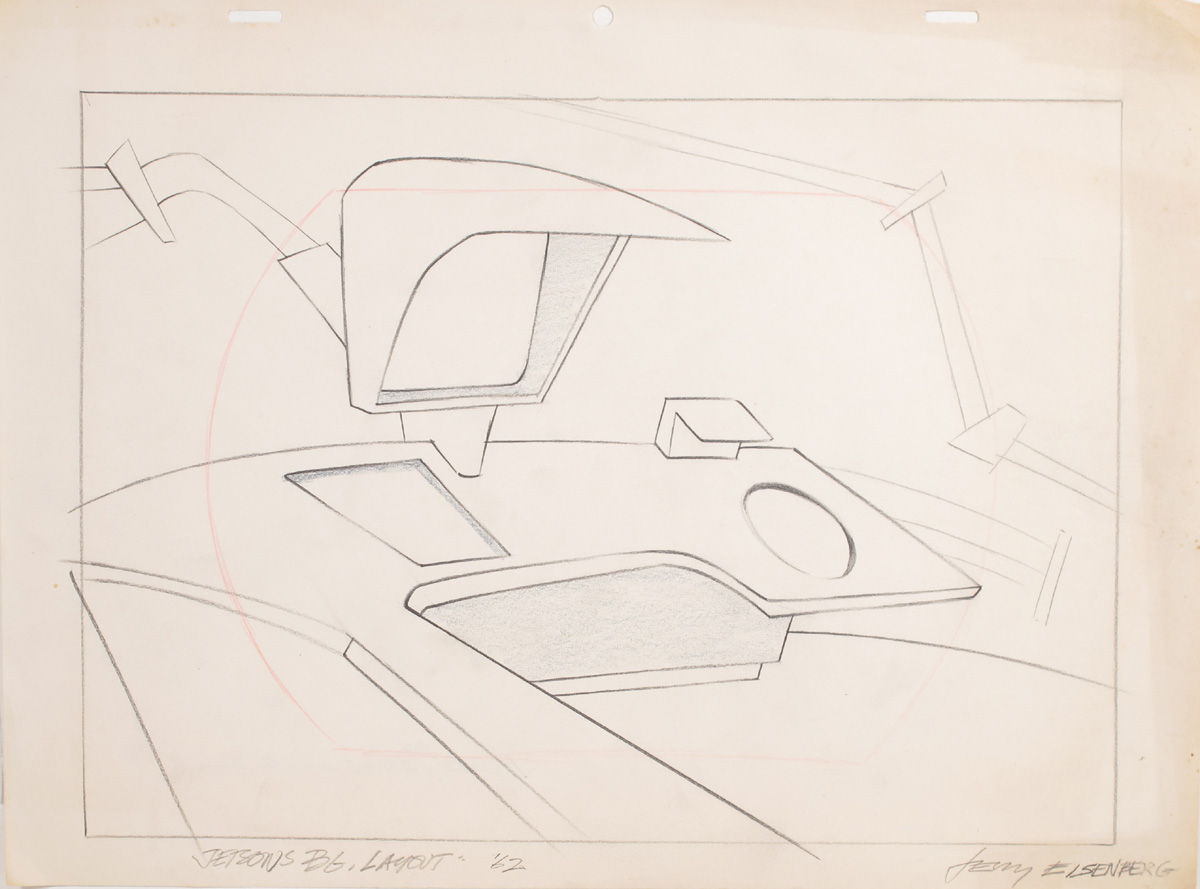 """Background layout drawing from """"The Jetsons"""" television cartoon"""