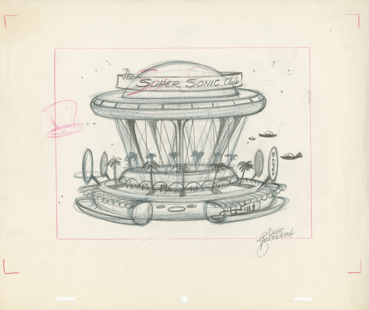 """Concept drawing for """"The Jetsons"""" television series"""