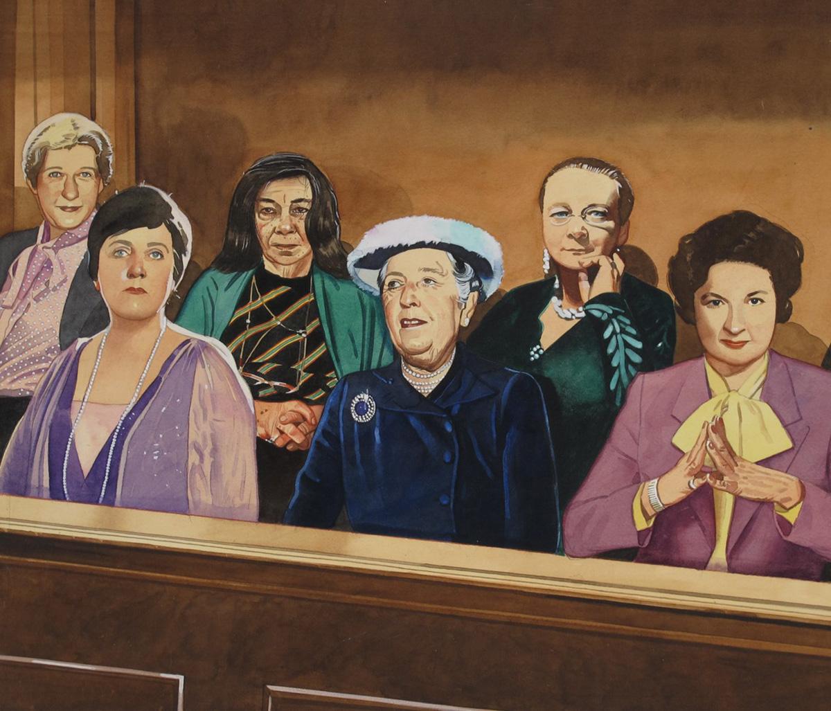 Female Mystery Writers in Jury Box
