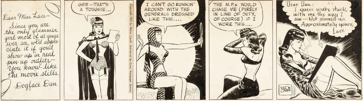 """Male Call"" comic strip"
