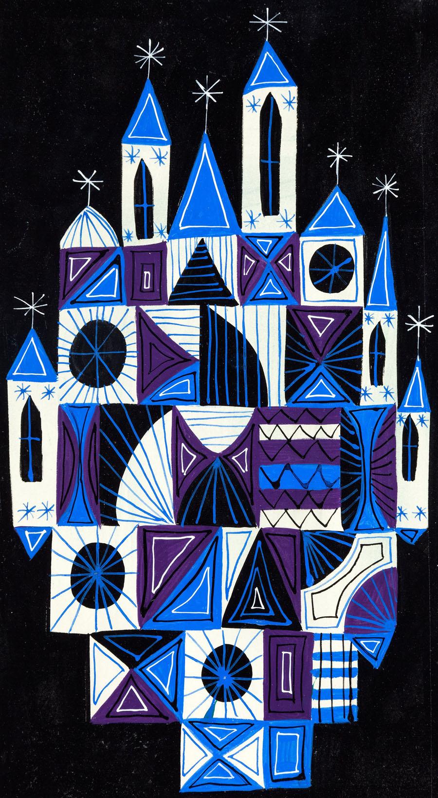 "Disney's ""It's a Small World"" building design concept art"