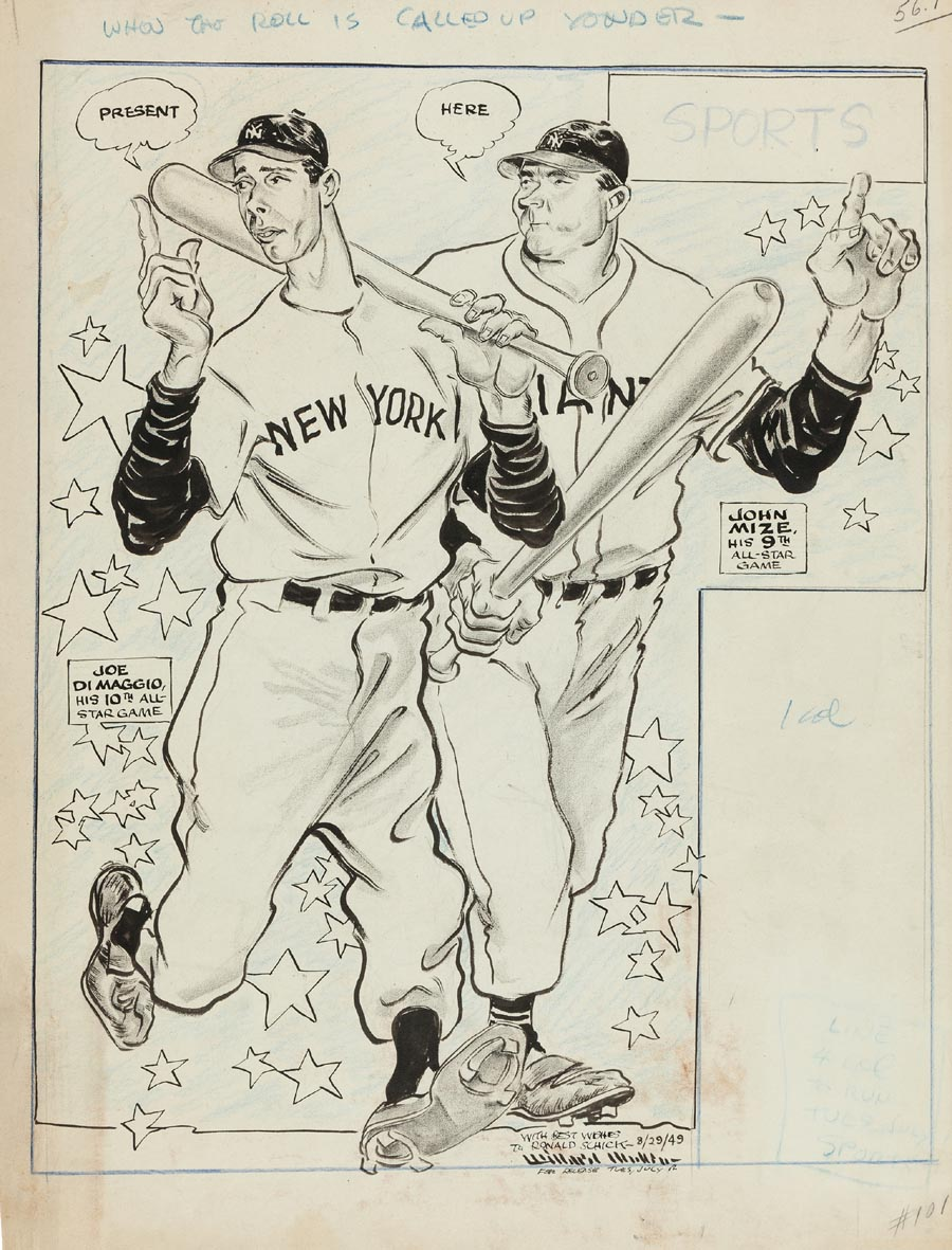 Joe DiMaggio and Johnny Mize