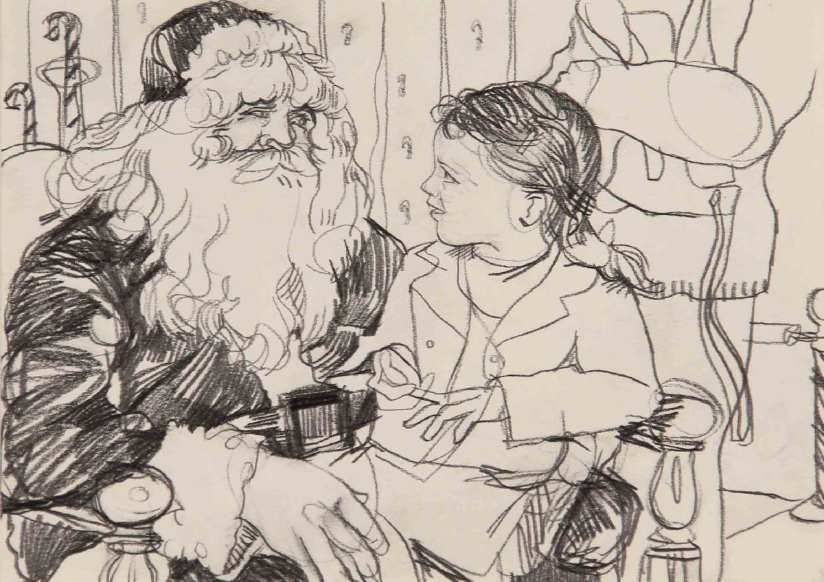 Untitled [Girl on Santa's Lap]