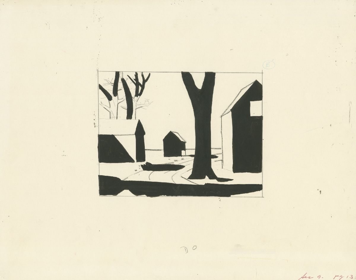 Untitled (Buildings and trees)