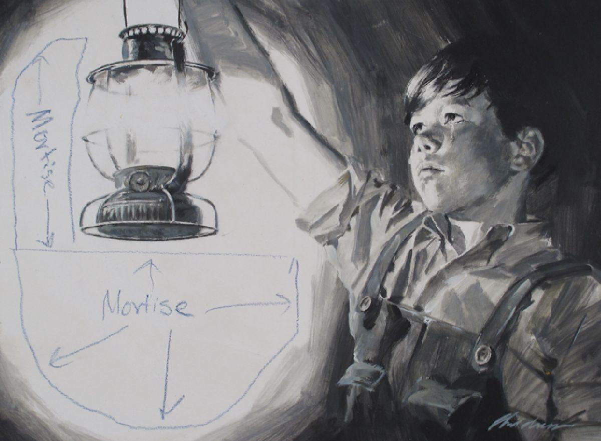 Boy Holding Lantern