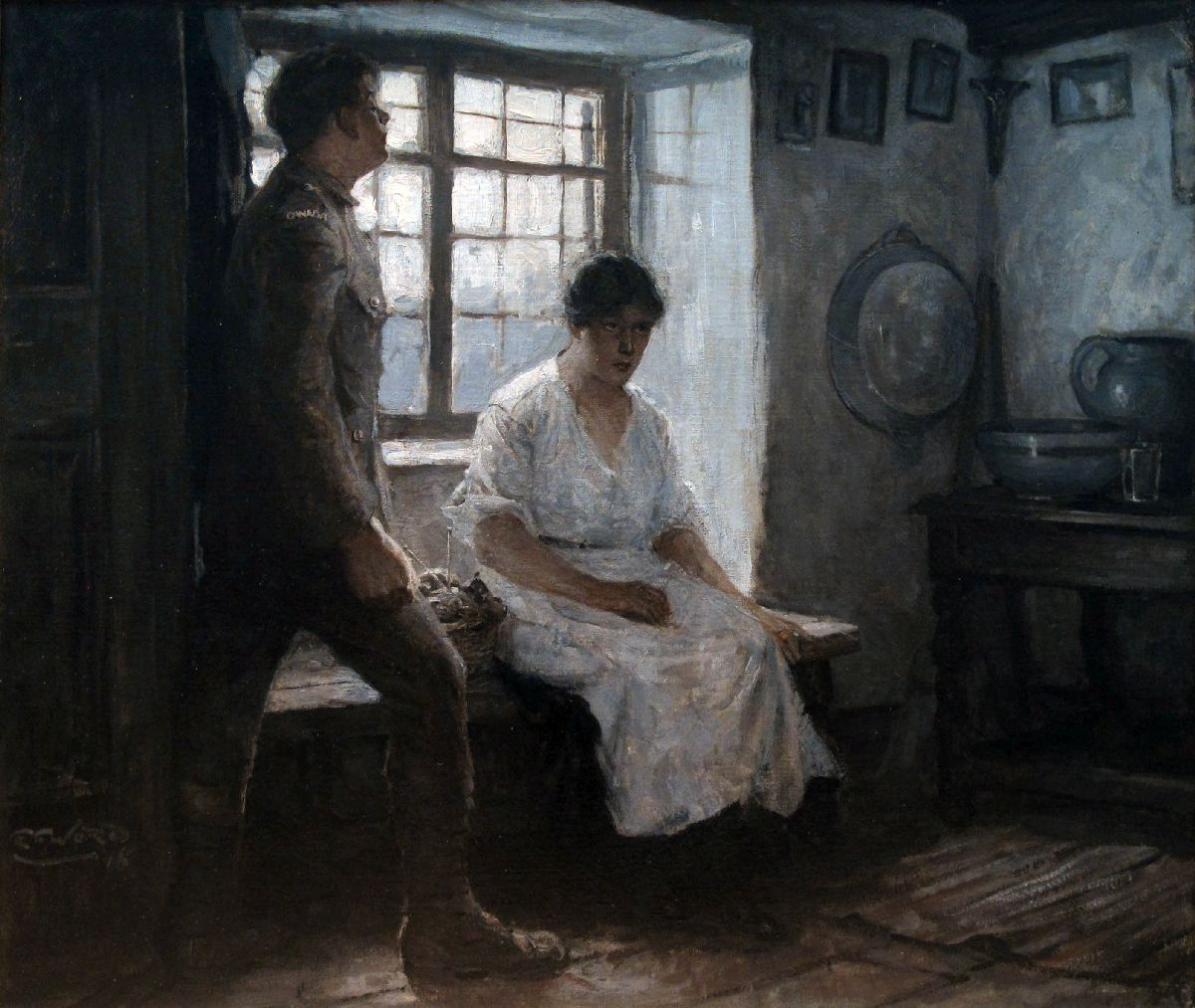 Untitled (Canadian Soldier with Seated Woman)