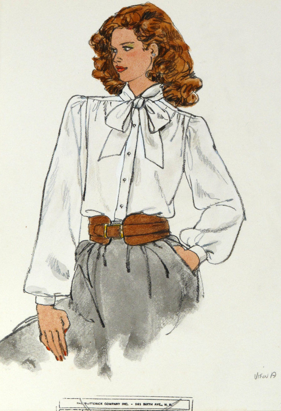 Untitled [Model in Blouse with Bow]