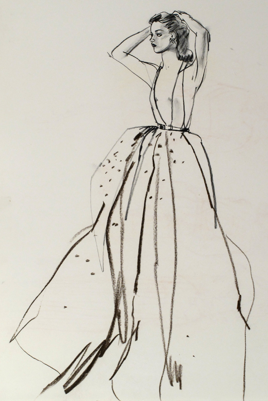 Untitled [Model in Ball Gown]