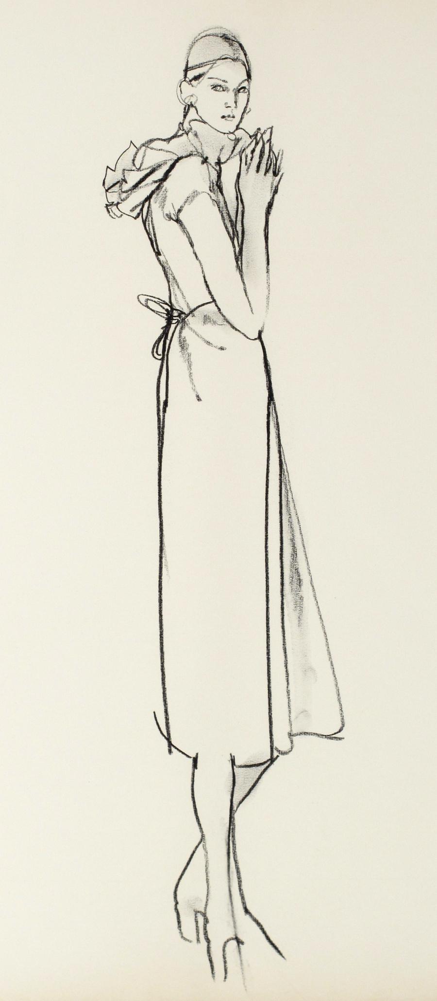 Untitled [Model in Ruffle Neck Dress]