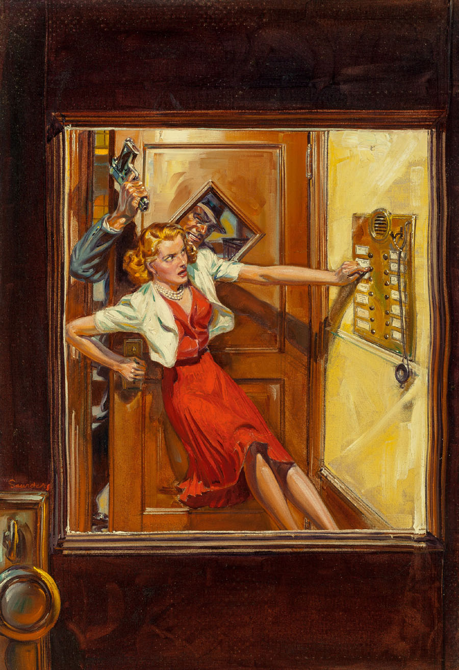 "Cover art for ""Variety Detective,"" October 1939"