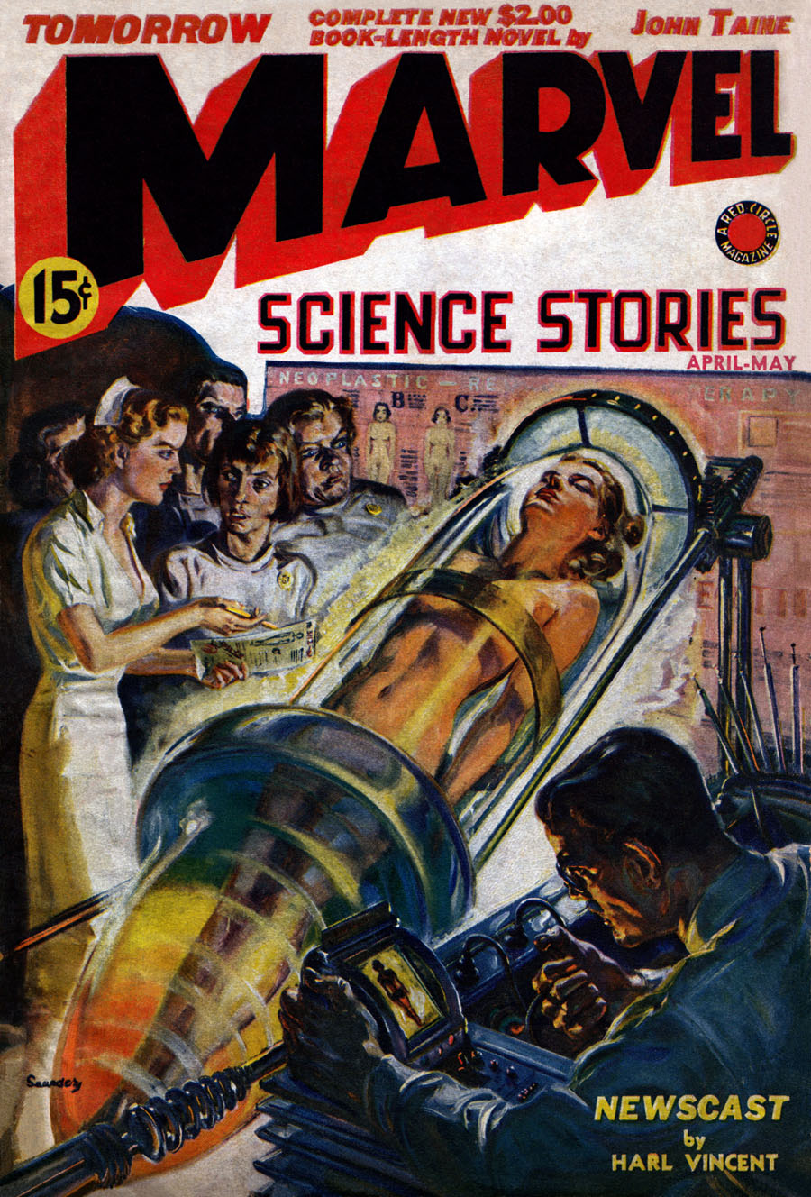 "Cover of ""Marvel Science Stories,"" April/May 1939"
