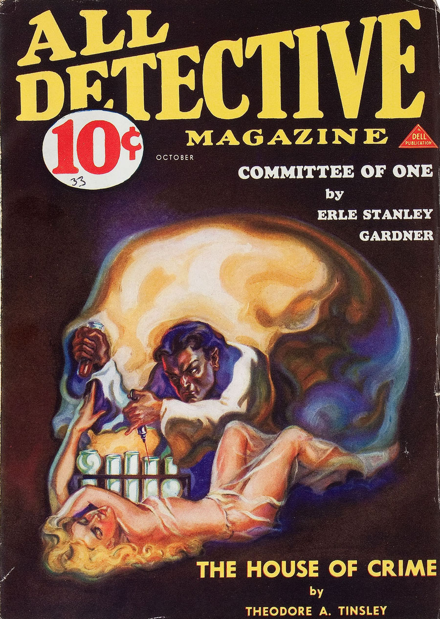 """Cover of """"All-Detective Magazine,"""" October 1933"""