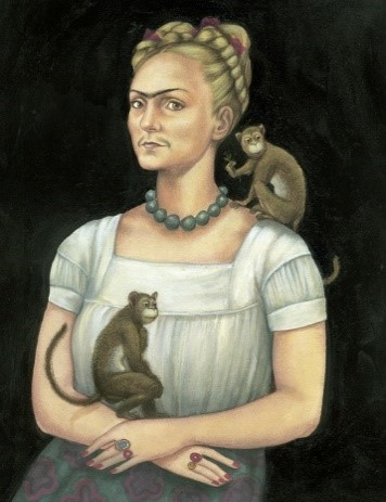 Self Portrait with Facial Hair: Kahlo