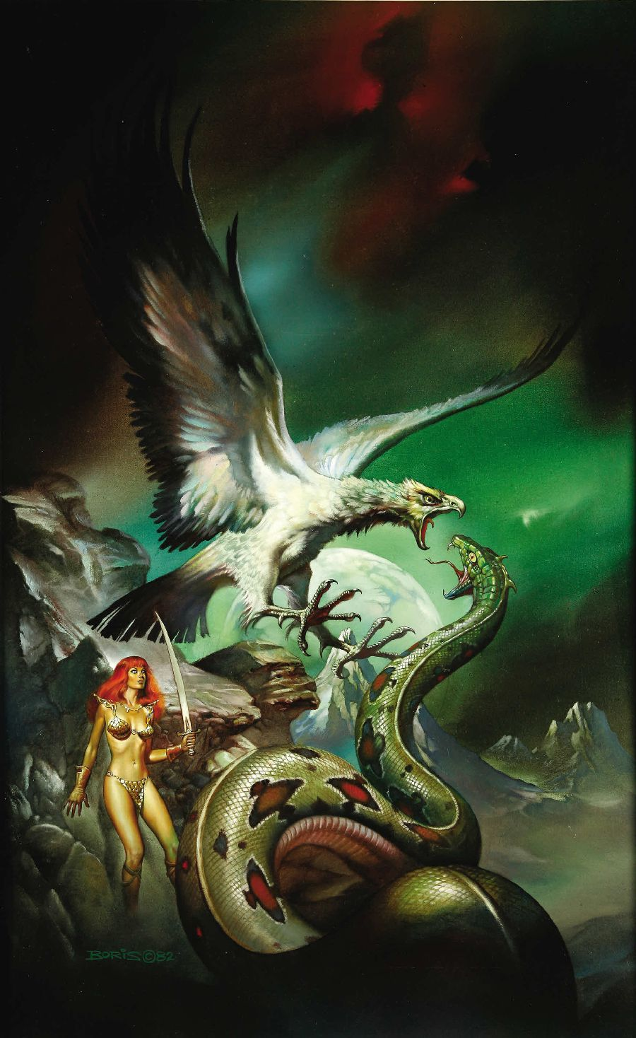 """Cover art for """"Red Sonja, no. 5: Against the Prince of Hell"""" paperback book"""