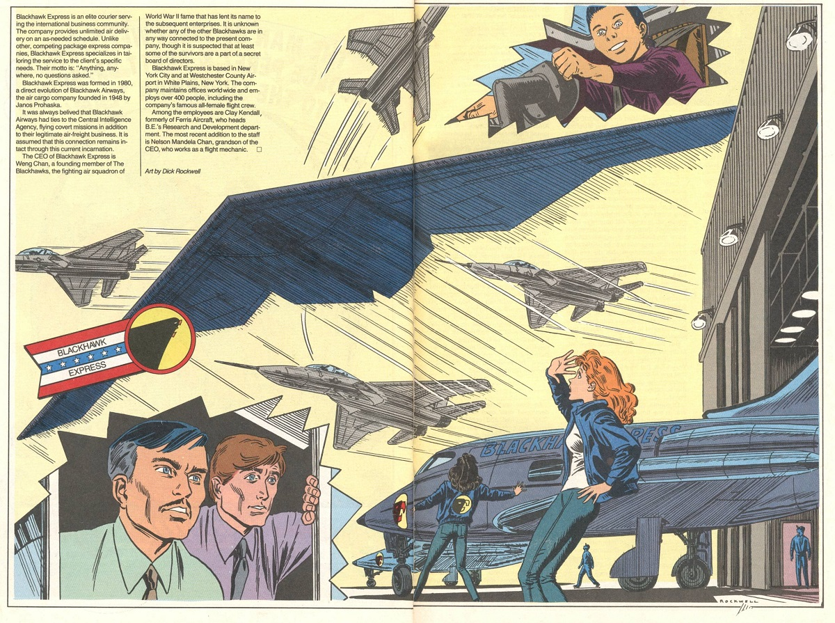 "Pages from ""Blackhawk Annual"" #1, May 1989"